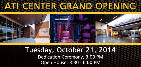ATI Center Grand Opening on October 21, 2014 at 3:00pm