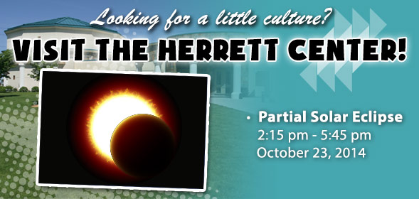 Partial Solar Eclipse on October 23, 2014 from 2:30pm to 5:45pm.