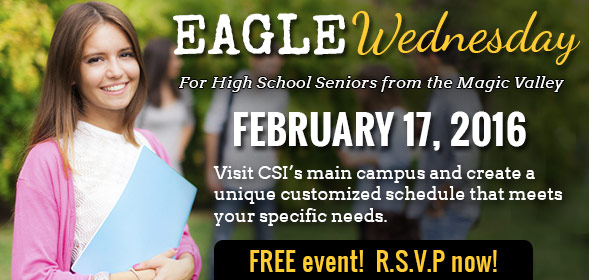 Eagle Wednesday for High School Seniors around the Magic Valley - February 17, 2016 - Free event! Clic to R.S.V.P now!