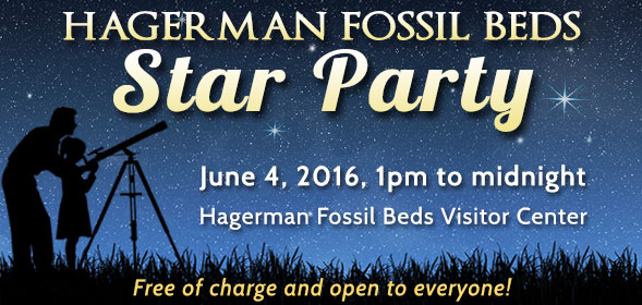 Hagerman Fossil Beds Start Party - June 4, 2016, 1pm to midnight - Hagerman Fossil Beds Visitor Center - Free of charge and open to everyone!
