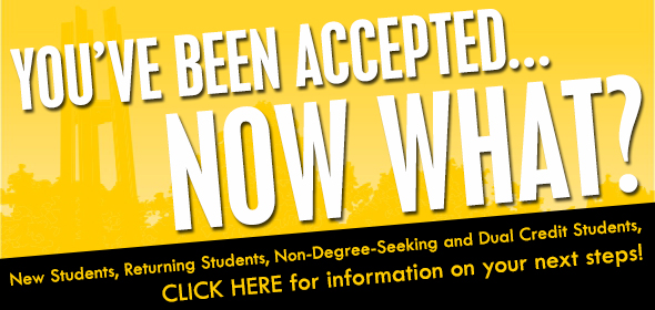 Follow this link to find out your next step after being accepted