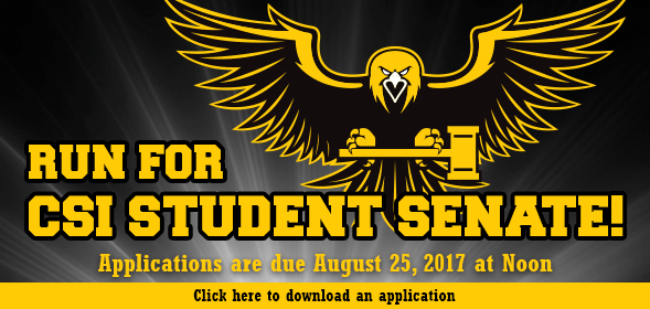Applications are being accepted for Freshman Senators and for Student Body President Candidates.