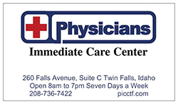 Physicians  Immediate Care Center -(208) 736-7422 - 260  Falls Ave #C - Twin  Falls, ID
